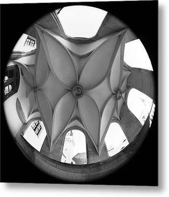 Spiral Staircase Ceiling Metal Print by Falko Follert