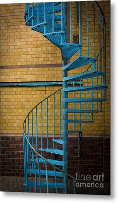 Spiral Staircase Metal Print by Inge Johnsson