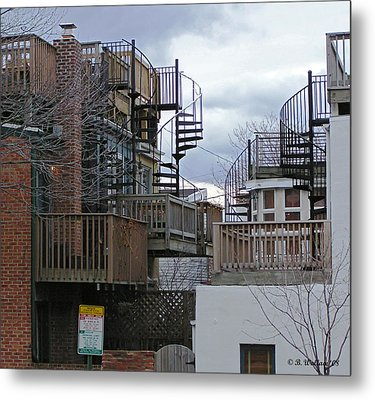 Metal Print featuring the photograph Spiral Stairs by Brian Wallace