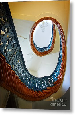 Metal Print featuring the photograph Spiral Stairs by Michael Edwards