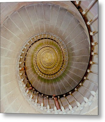 Spirale Du Phare Des Baleines Version Carree Metal Print by Marc Philippe Joly