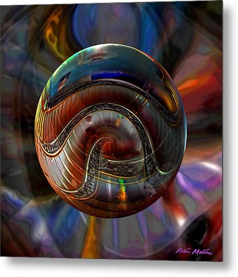 Spiraling The Vatican Staircase Metal Print