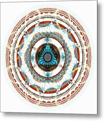 Spirit Circle Metal Print by Anastasiya Malakhova
