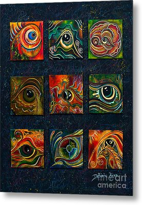 Metal Print featuring the painting Spirit Eye Collection I by Deborha Kerr