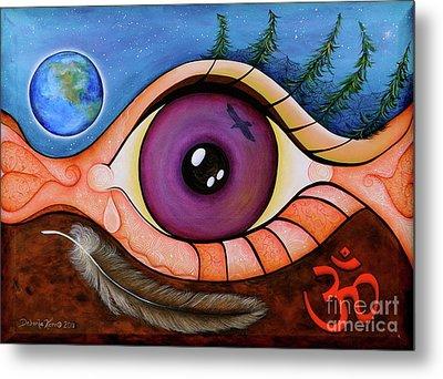 Metal Print featuring the painting Spirit Eye by Deborha Kerr