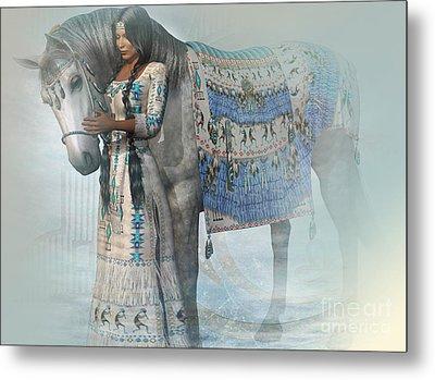 Spirit Horse Metal Print by Shadowlea Is