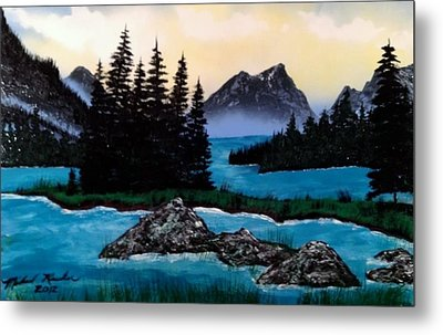 Metal Print featuring the painting Spirit Island by Michael Rucker