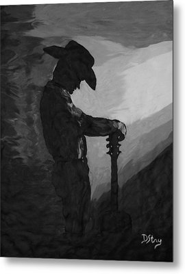 Spirit Of A Cowboy Metal Print