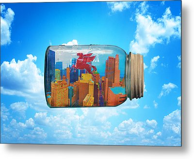 Spirit Of Dallas Metal Print by David Clanton