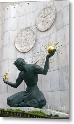 Spirit Of Detroit Monument Metal Print