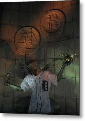 Spirit Of Detroit Tigers Metal Print