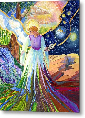 Spirit Of God Angel Between Good And Evil Metal Print by Jacquelin Vanderwood