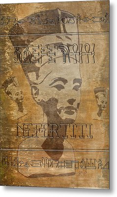 Spirit Of Nefertiti Egyptian Queen   Metal Print
