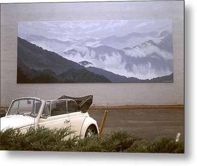 Spirit Of The Air Shown With Car Metal Print by Blue Sky