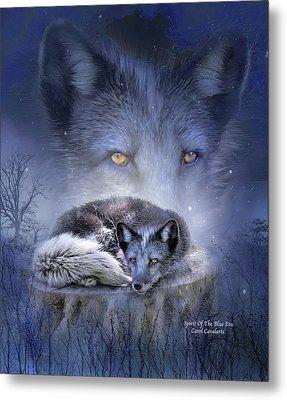 Spirit Of The Blue Fox Metal Print by Carol Cavalaris