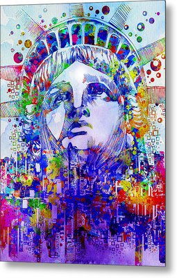 Spirit Of The City 2 Metal Print by Bekim Art