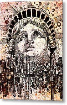 Spirit Of The City 3 Metal Print by Bekim Art
