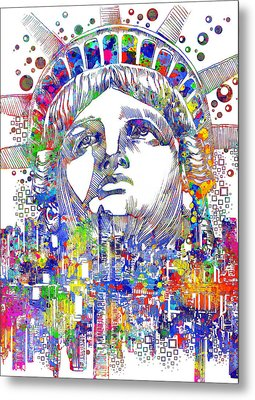 Spirit Of The City Metal Print by Bekim Art