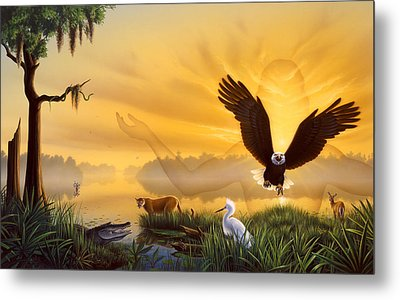 Spirit Of The Everglades Metal Print by Jerry LoFaro