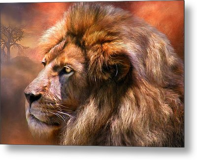 Spirit Of The Lion Metal Print by Carol Cavalaris