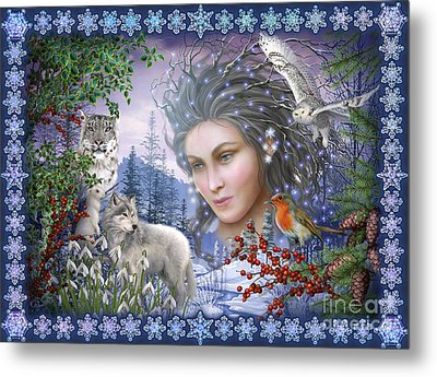 Spirit Of Winter Variant I Metal Print