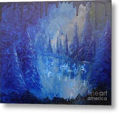 Metal Print featuring the painting Spirit Pond by Jacqueline Athmann