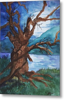 Spirit Tree Metal Print by Ellen Levinson