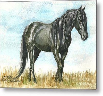 Spirit Wild Horse In Sanctuary Metal Print by Linda L Martin