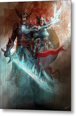 Metal Print featuring the digital art Spiritual Armor by Steve Goad