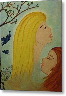 Spiritual Embrace Metal Print by Marie Tucker