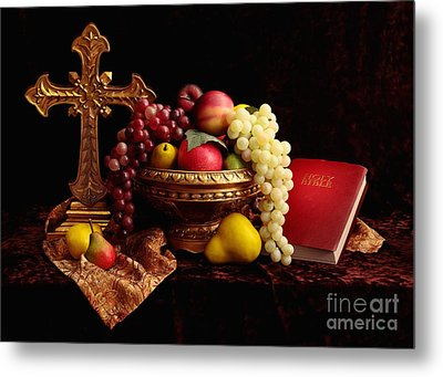 Spiritual Fruit Metal Print