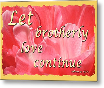 Spiritual Love - Bordered Metal Print