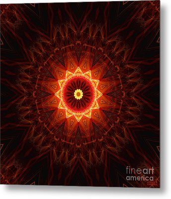 Spiritual Shield Metal Print by Hanza Turgul