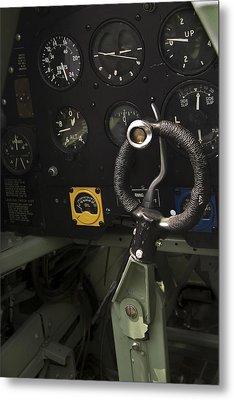 Spitfire Cockpit Metal Print