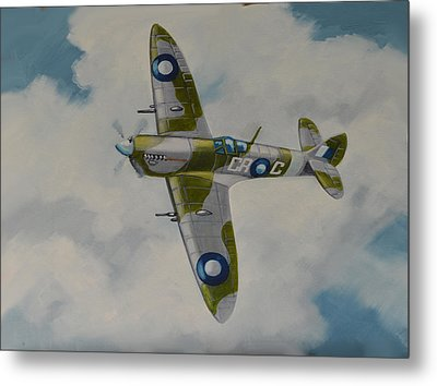 Spitfire Mk.viii Metal Print by Murray McLeod