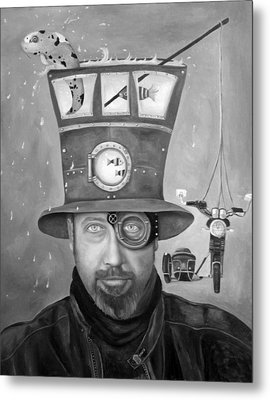 Splash Bw 2 Metal Print by Leah Saulnier The Painting Maniac