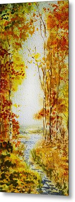 Splash Of Fall Metal Print by Irina Sztukowski