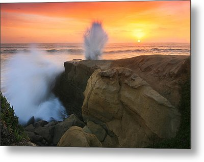 Splash Sunset  Metal Print