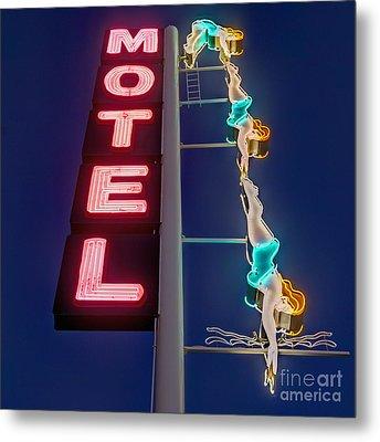 Splashdown Motel Metal Print by Martin Konopacki