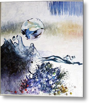Splashing Through Waves Metal Print by Adel Ahn
