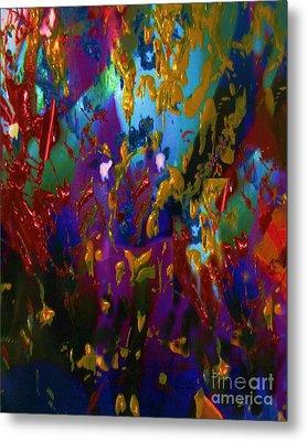 Splatter Metal Print by Doris Wood