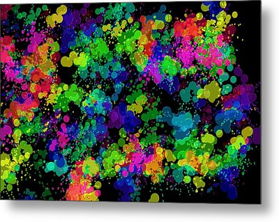 Metal Print featuring the photograph Splatter by Mark Blauhoefer
