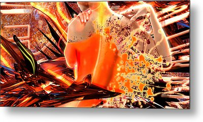 Splatter Of Light Metal Print