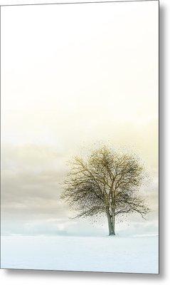 Splatter Tree Metal Print by Michael Huddleston