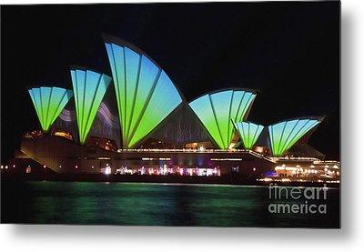 Splice Sails - Sydney Vivid Festival - Sydney Opera House Metal Print