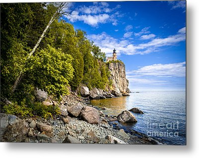 Metal Print featuring the photograph Split Rock Shoreline by Mark David Zahn