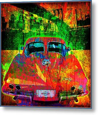 Split Window Corvette Metal Print by Gary Grayson