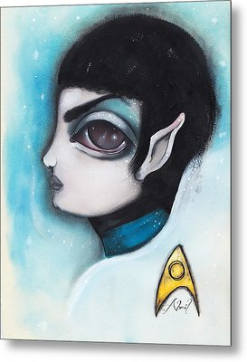 Spock Metal Print by  Abril Andrade Griffith