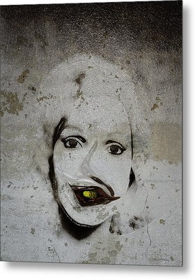 Spoiled Portrait In The Wall Metal Print by Ramon Martinez