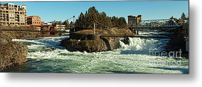 Spokane Falls - Spokane Washington Metal Print by Beve Brown-Clark Photography